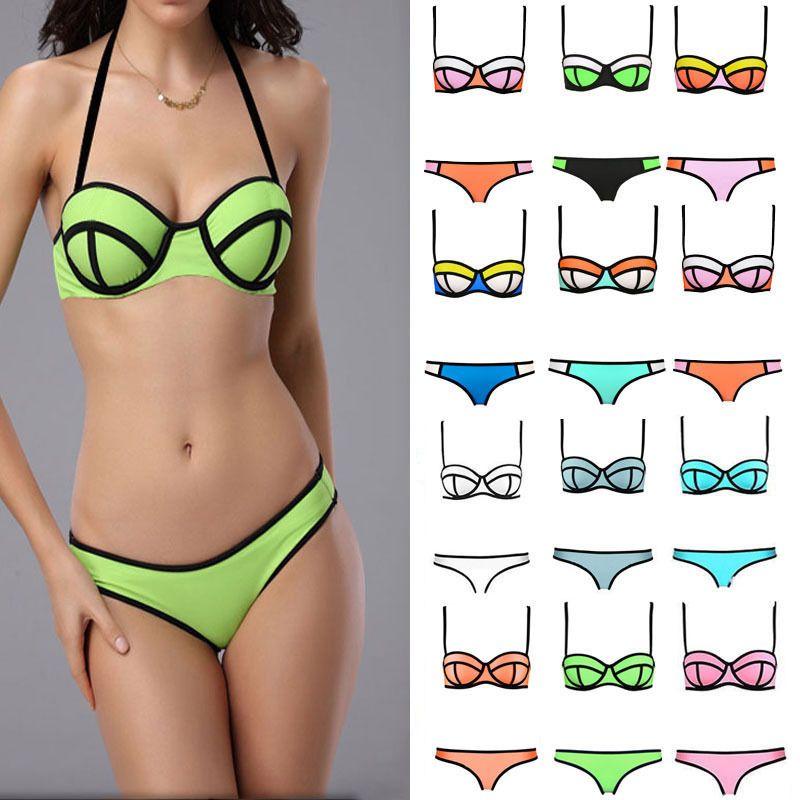 4b686876d2b All Kinds Of Lady Sexy Triangle Bikini With Rims Polyester Bra Swimsuit  Swimwear  Unbranded  Bikini