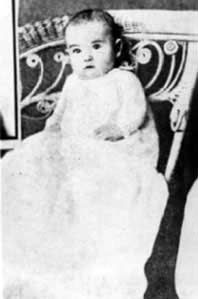 Rudolph Valentino as a baby