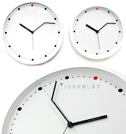 This On Time Wall Clock From Italian
