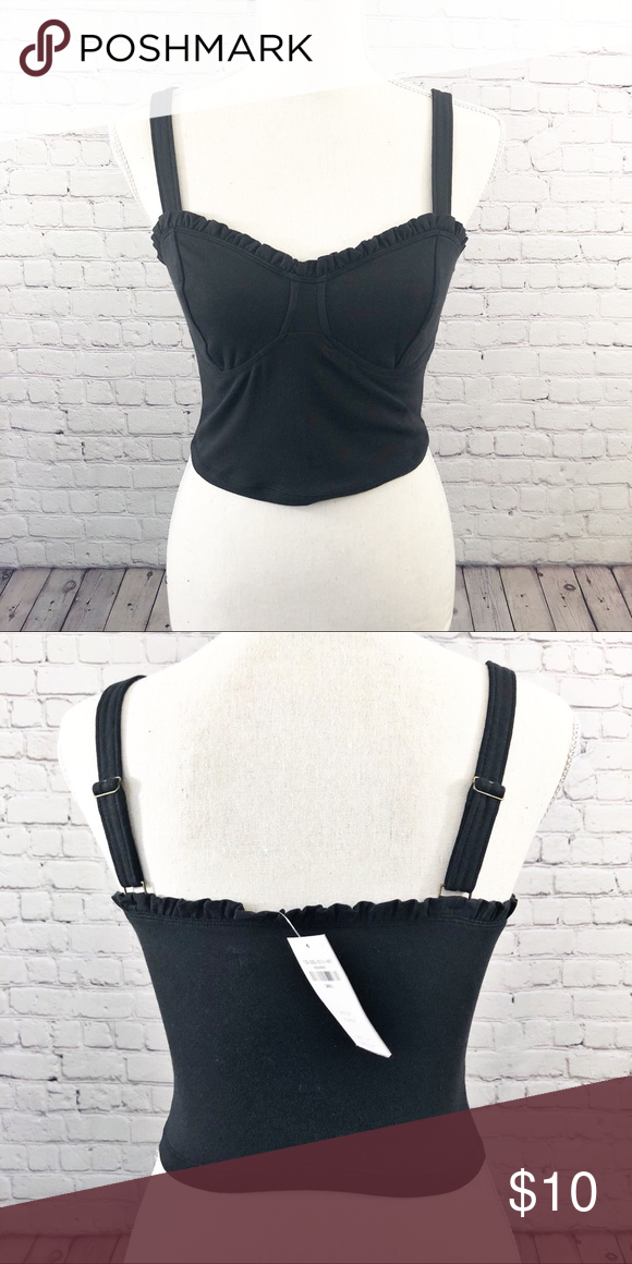 42e8005ccf894 Bustier Crop Top Cute simple bustier crop top. Black. Size Small. Bundle and  save! Abercrombie   Fitch Tops Crop Tops