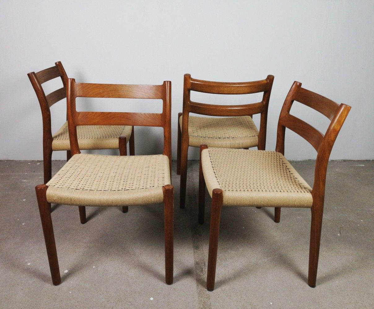 For sale Set of 4 Niels O. Moller 'no. 84' dining chairs