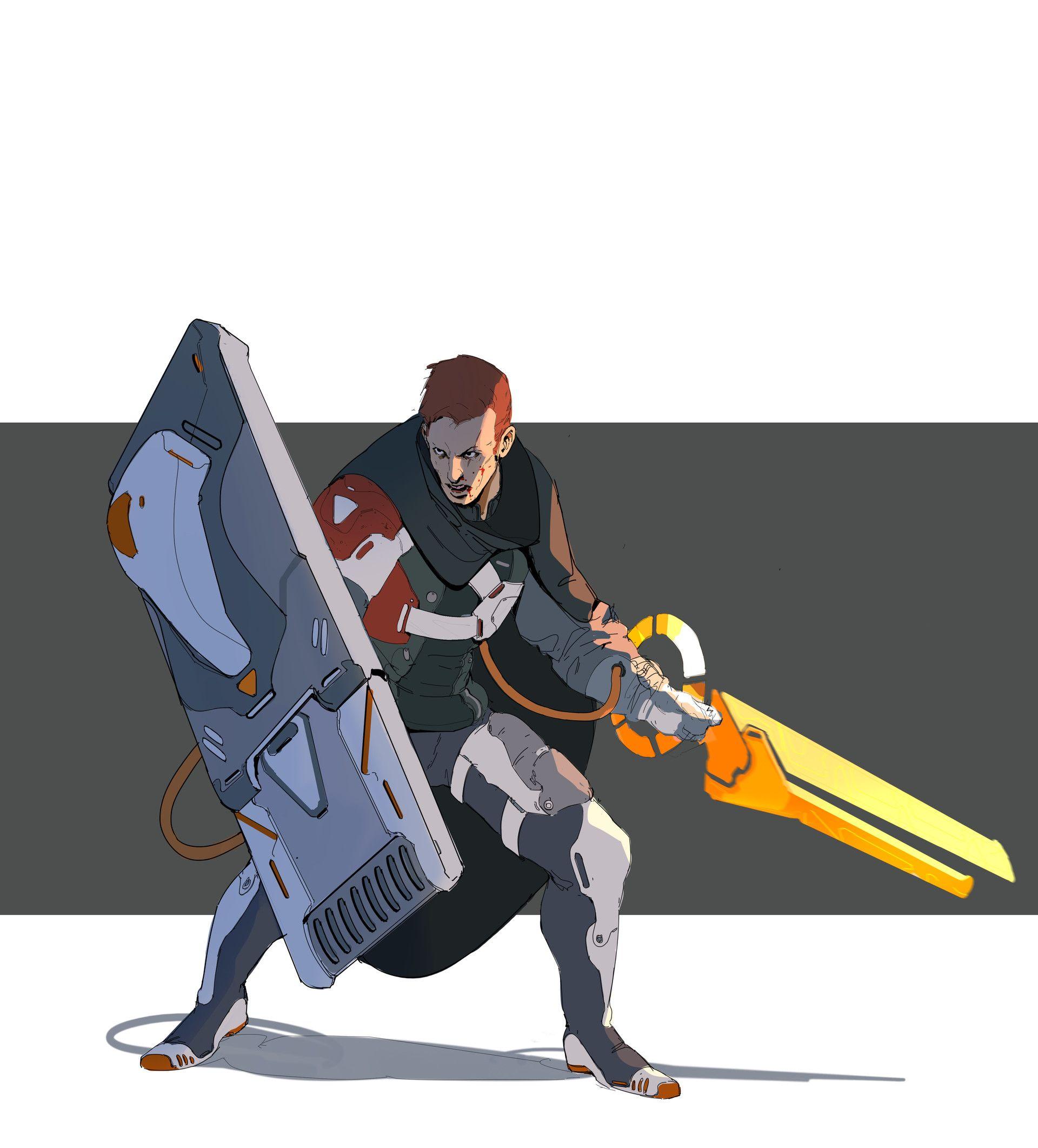 Concept Art Energy Warrior