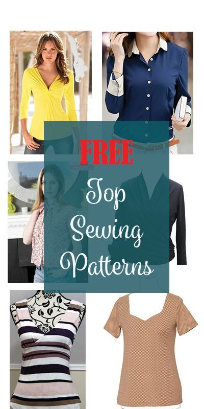 Free Top Sewing Patterns | Pinterest | Sewing patterns, Patterns and ...