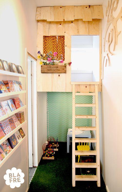 Indoor Baumhäuser   Coole Ideen Für Kinder   Bücherregal