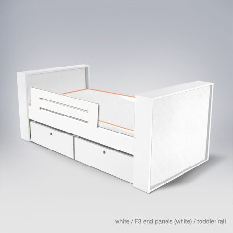 Since Both The Headboard And Footboard Are The Same Height This Ducduc Bed Is Considered A Daybed Cl Modern Kids Beds Modern Childrens Furniture Toddler Bed White headboard and footboard