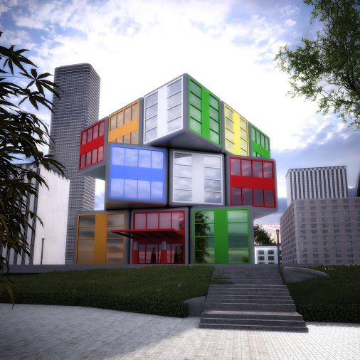 The Rubik S Cube Office Building Architecture Cube