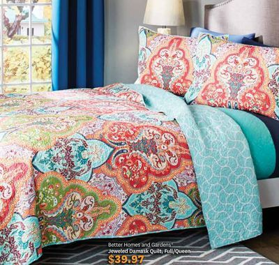 Better Homes And Gardens Jeweled Damask Quilt Full Queen