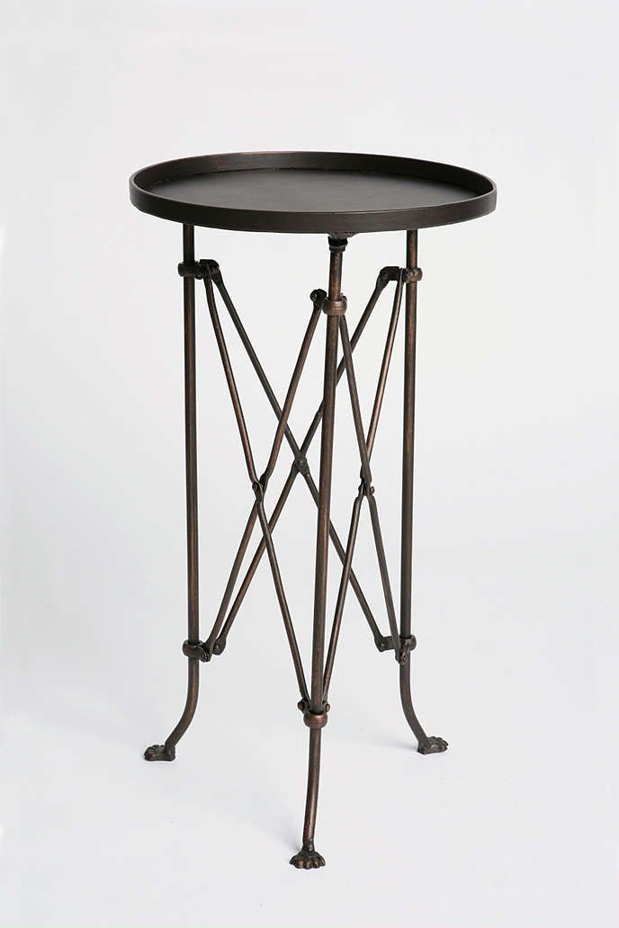 Metal Accordion Side Table Metals Spaces and Living rooms