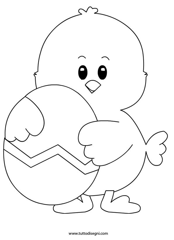 Pulcino Di Pasqua Tuttodisegnicom Papeli Pinterest Easter
