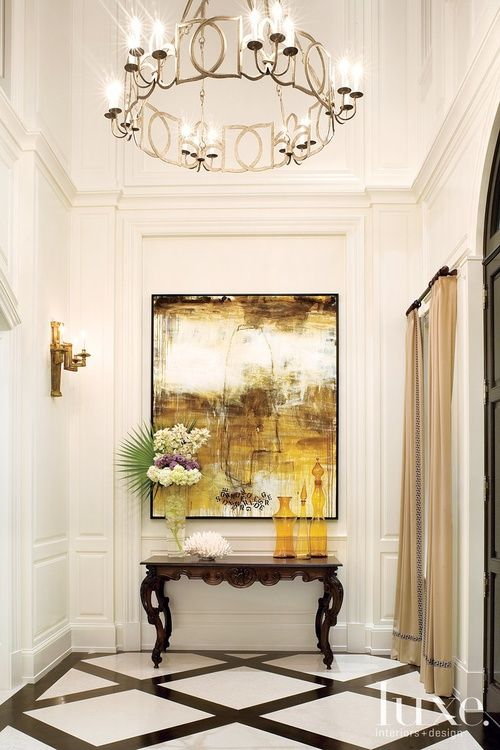 Chandelier Size Foyer Entry Hall : Gorgeous well appointed entry hall the floor makes this