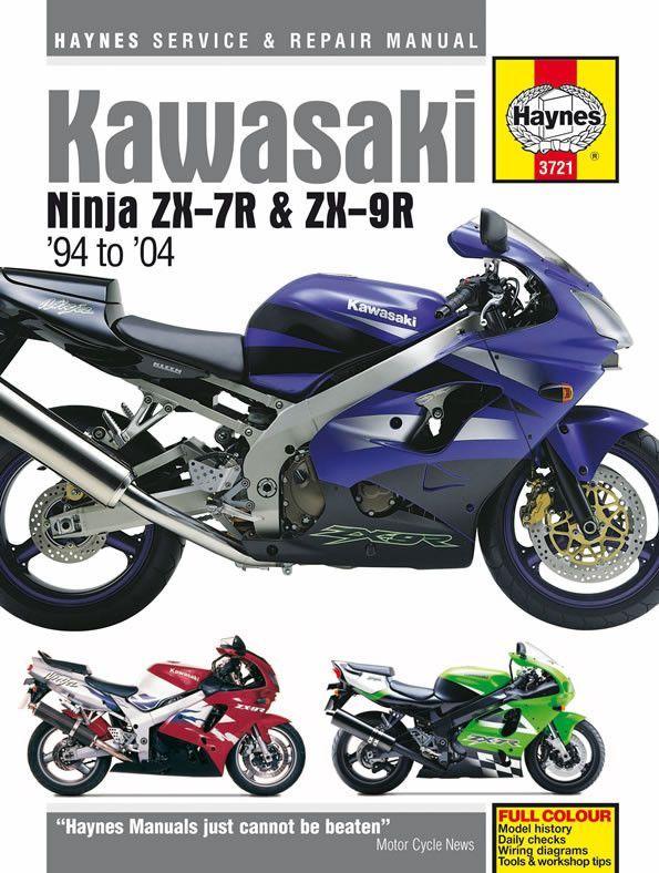Haynes Service Manual For 1994 04 Kawasaki Zx 7r Zx 9r Ninja