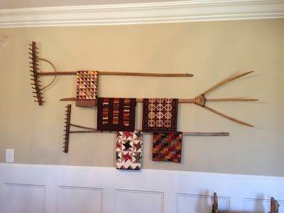 Rakes! Maybe this is how I can hang my large penny rug. I have had ...