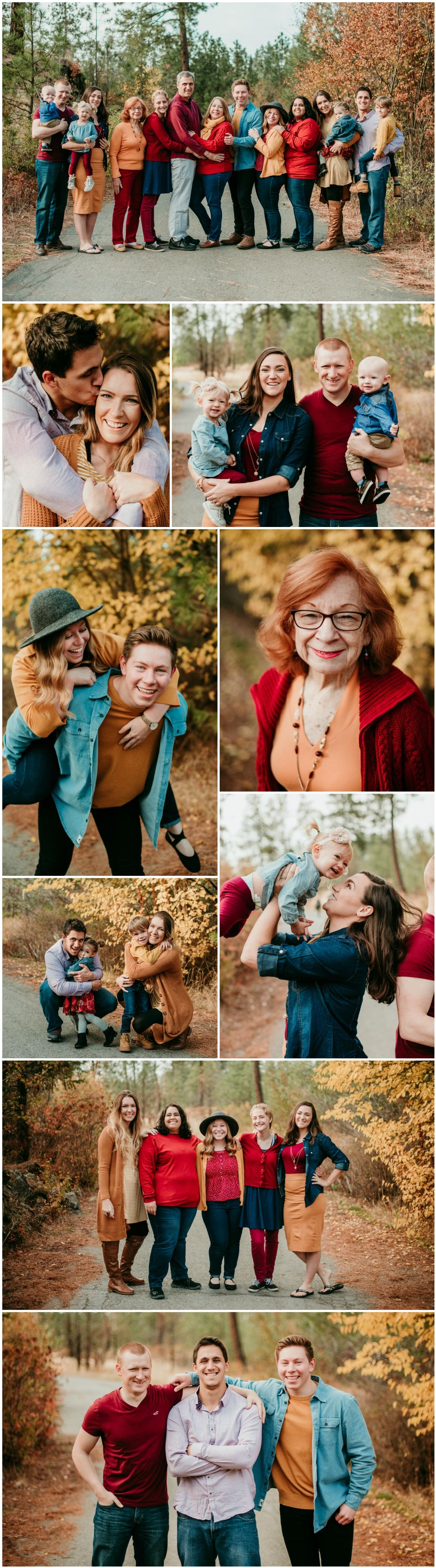 Extended Family Session in Post Falls, Idaho with a Family of 15 #extendedfamilyphotography