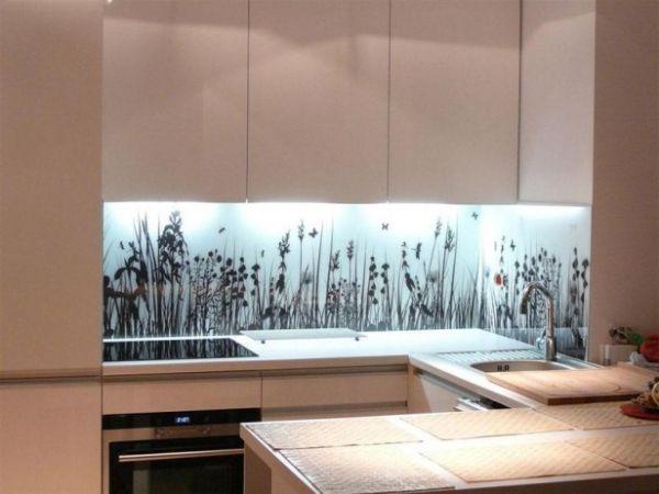 Küche Glasrückwand Foto Gräser Haus Pinterest Glasrückwand - glasrückwand küche beleuchtet