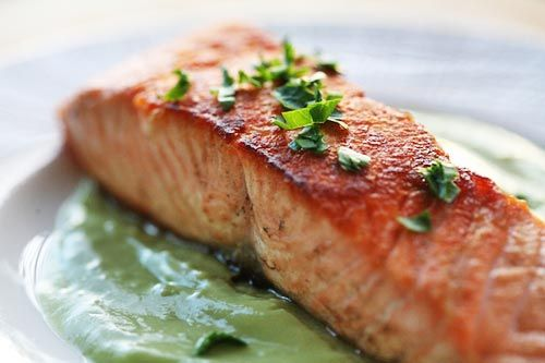 Pan Seared Salmon with Avocado Remoulade