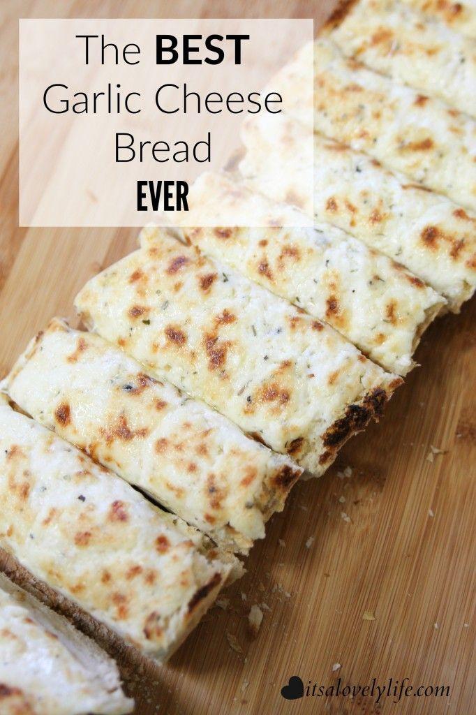 Easy Cheesy Garlic Bread The Best Bread The Tortilla Channel Recipe Cheesy Garlic Bread Pizza Recipes Homemade Homemade Garlic Bread