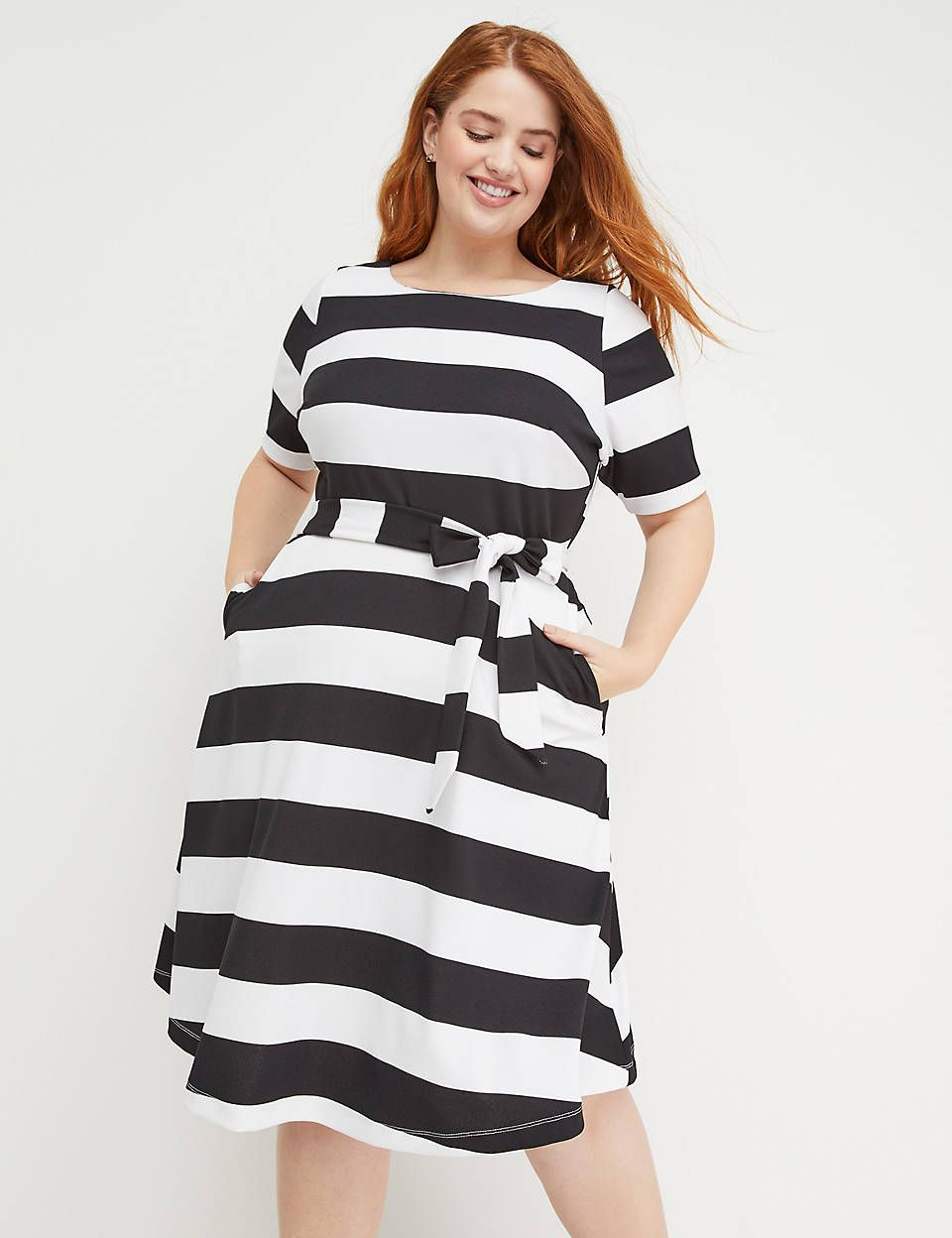 Lane Bryant Beauticurve Fit & Flare Dress - Stripe in 2019 ...