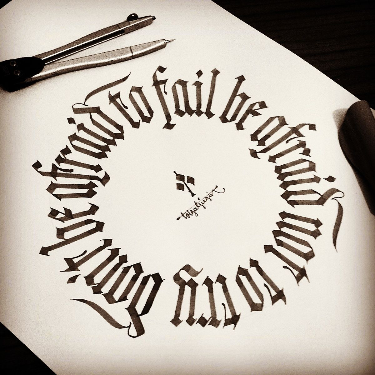 Gothic Calligraphy Amp Lettering With Parallel Pens And Steel