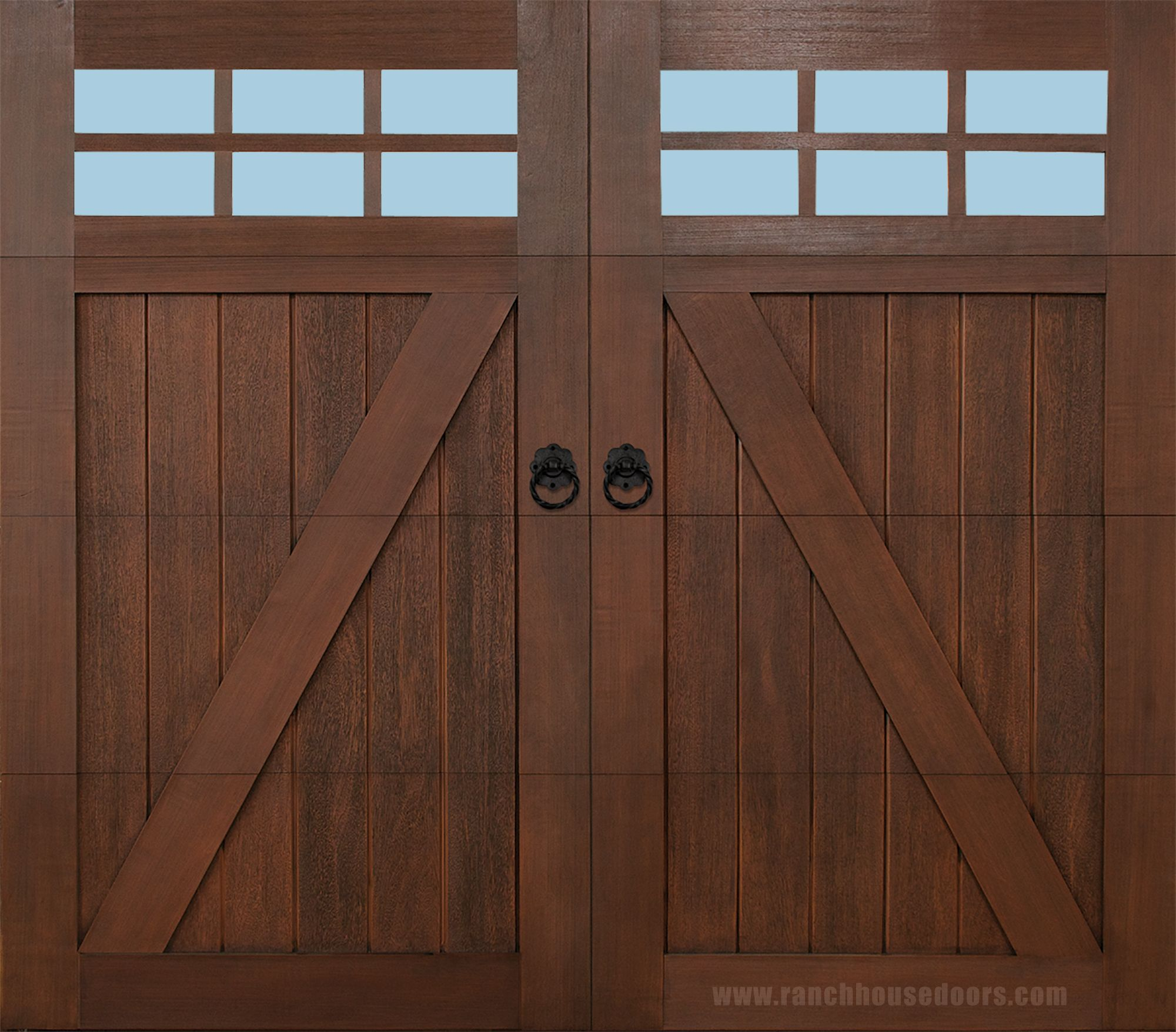 Garage door repairs by s amp t garage doors of northern virginia - Ranch House Doors Model 501 Elements Collection Faux Wood Garage Door With Fh 511 Ring
