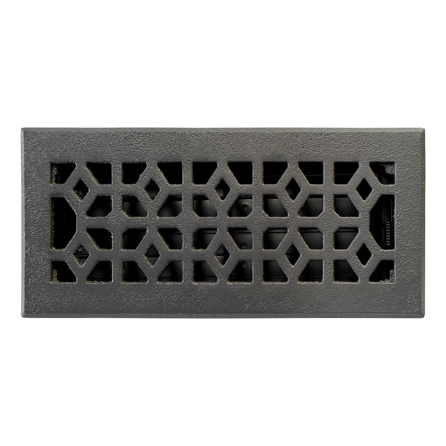 Shop Allen Roth Marquis Matte Cast Iron Floor Register Rough Opening 4 In X 10 In Actual 5 36 In X Floor Registers Unique Flooring Black Floor