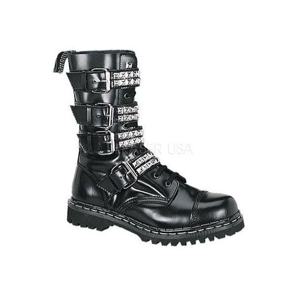 Demonia Men's Gravel Size: 4 M, Black Leather