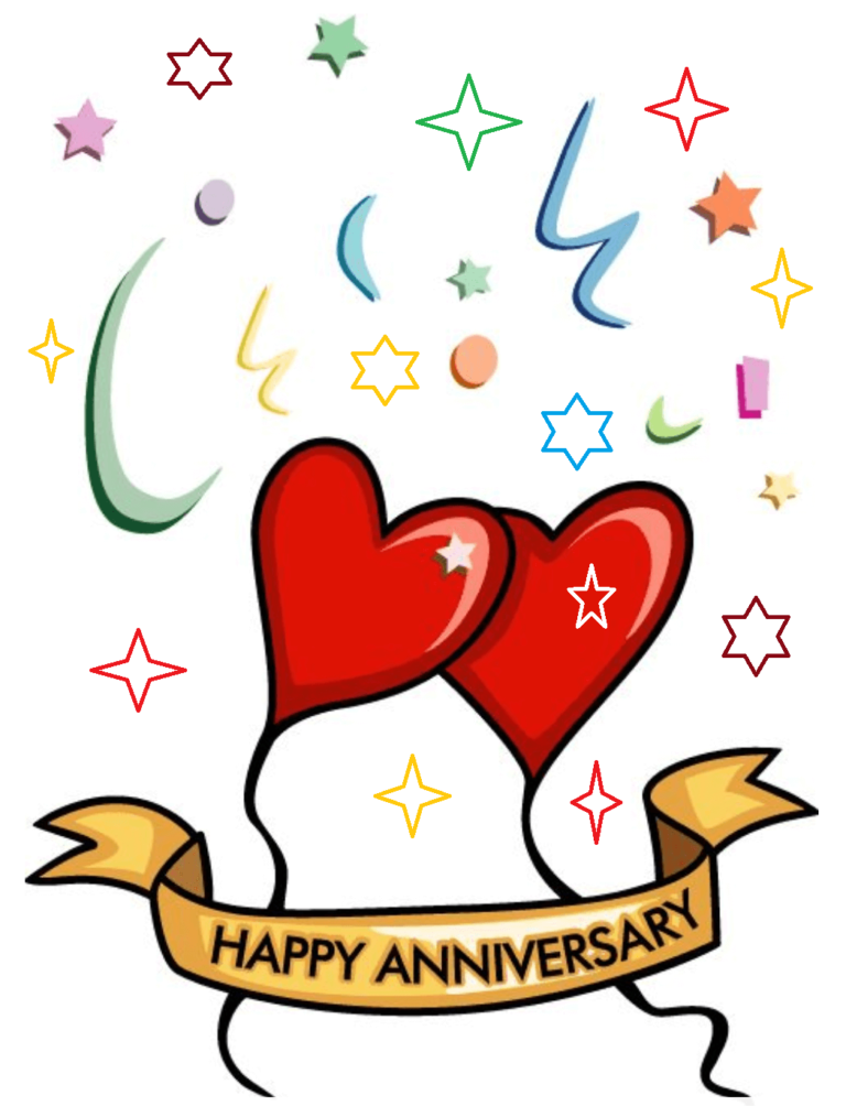 Happy Marriage Anniversary Clipart Wishes in 2020 Happy