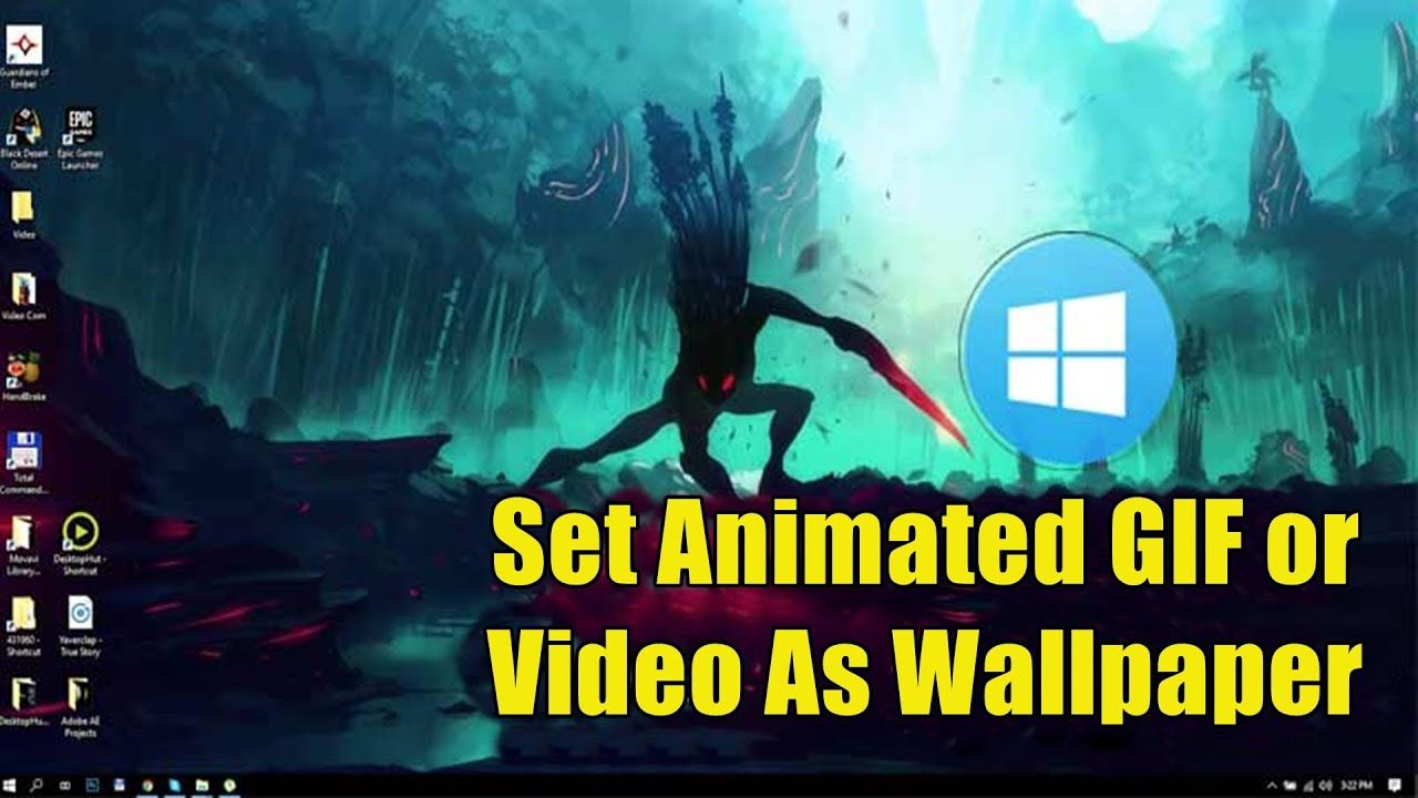 How To Use Animated Gif Live Wallpaper And Video As Desktop Background Animated Gif Live Wallpapers Animation