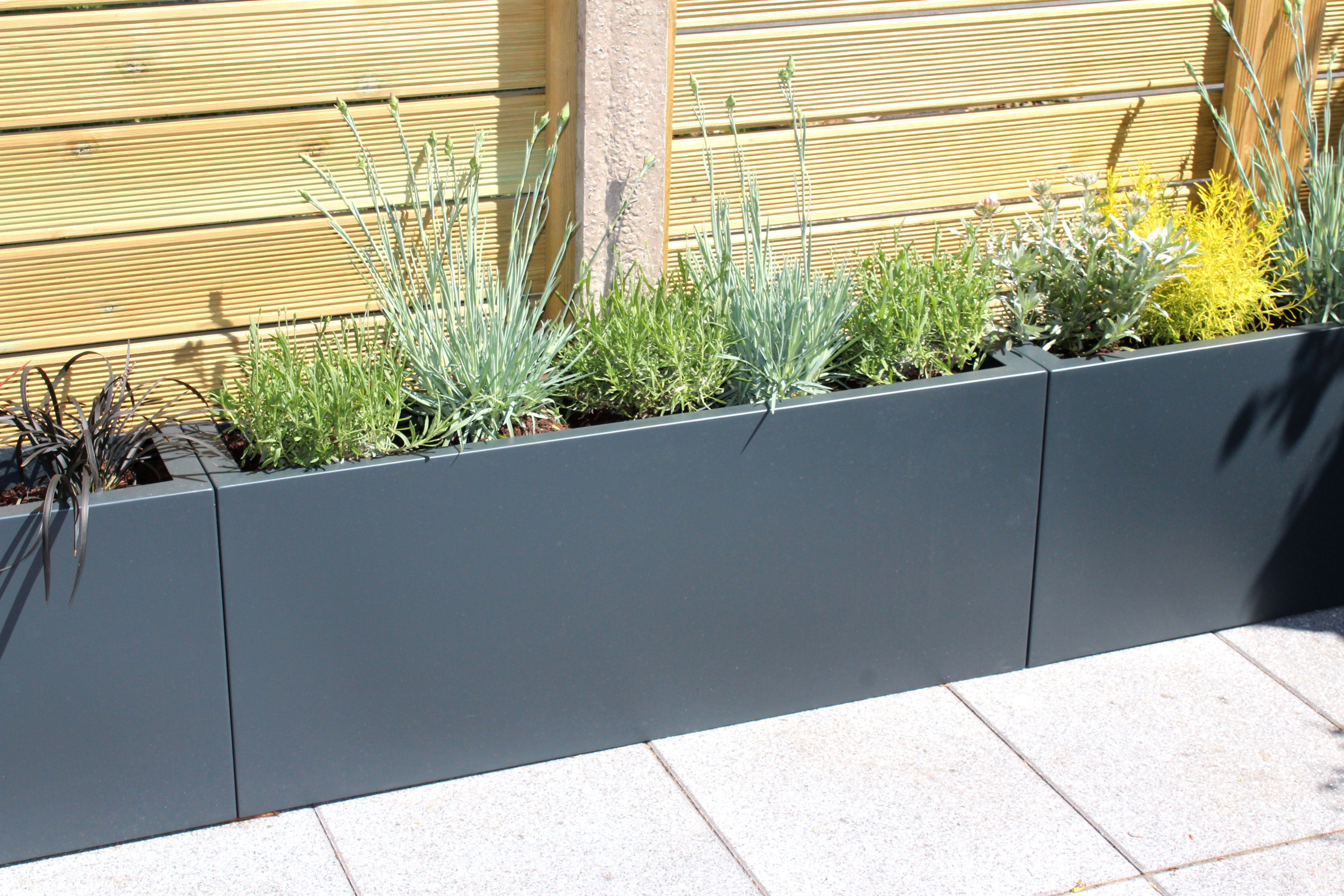 Grp Planters In Ral Colour Used As A Raised Boarder For Planting Trough Planters Outdoor Planters Large Planters