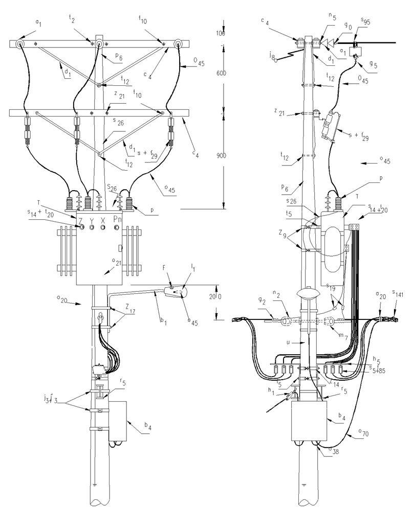 pin de electricidad industrial en electric transformator