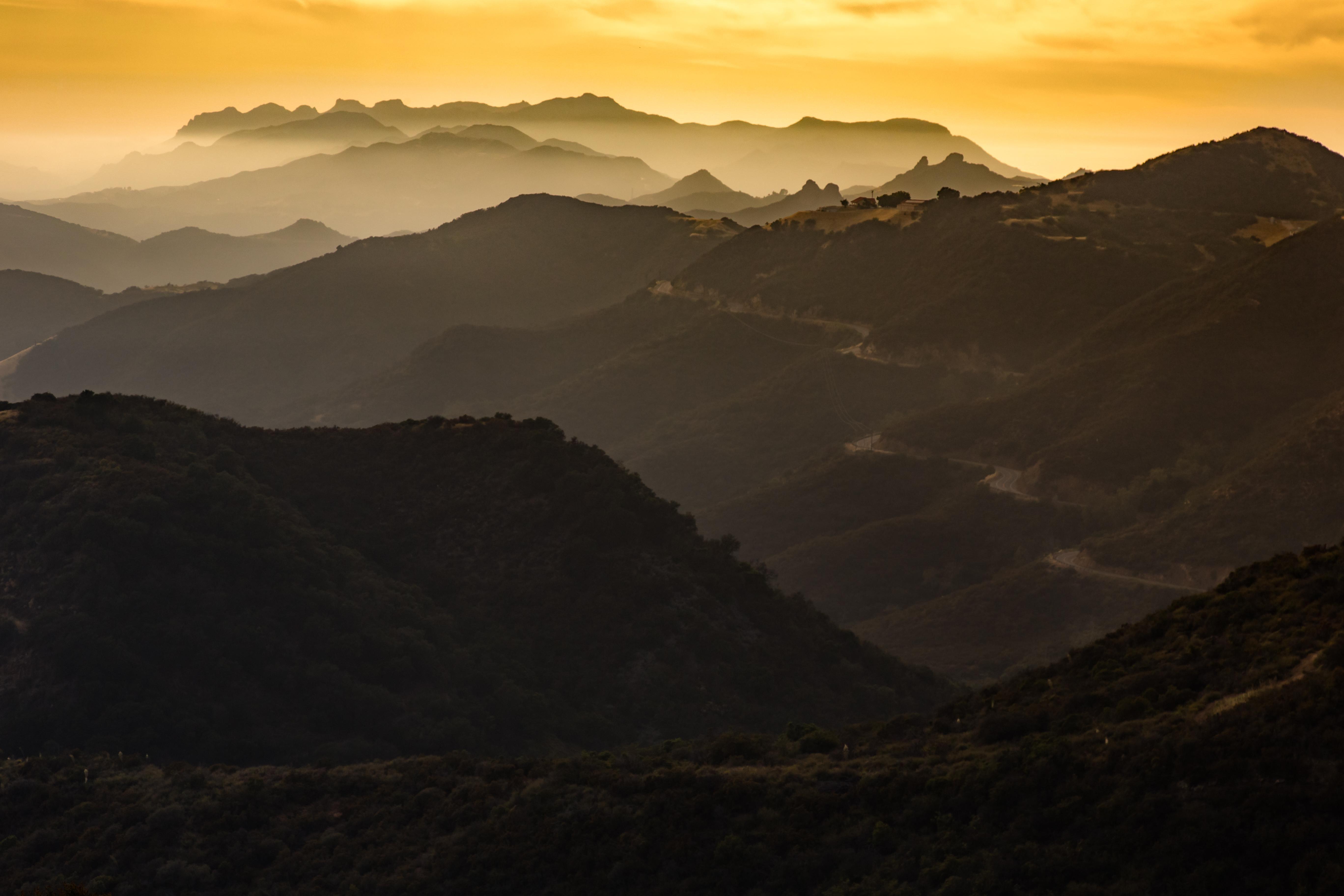 Sunset over latigo canyon road santa monica mountains ca x