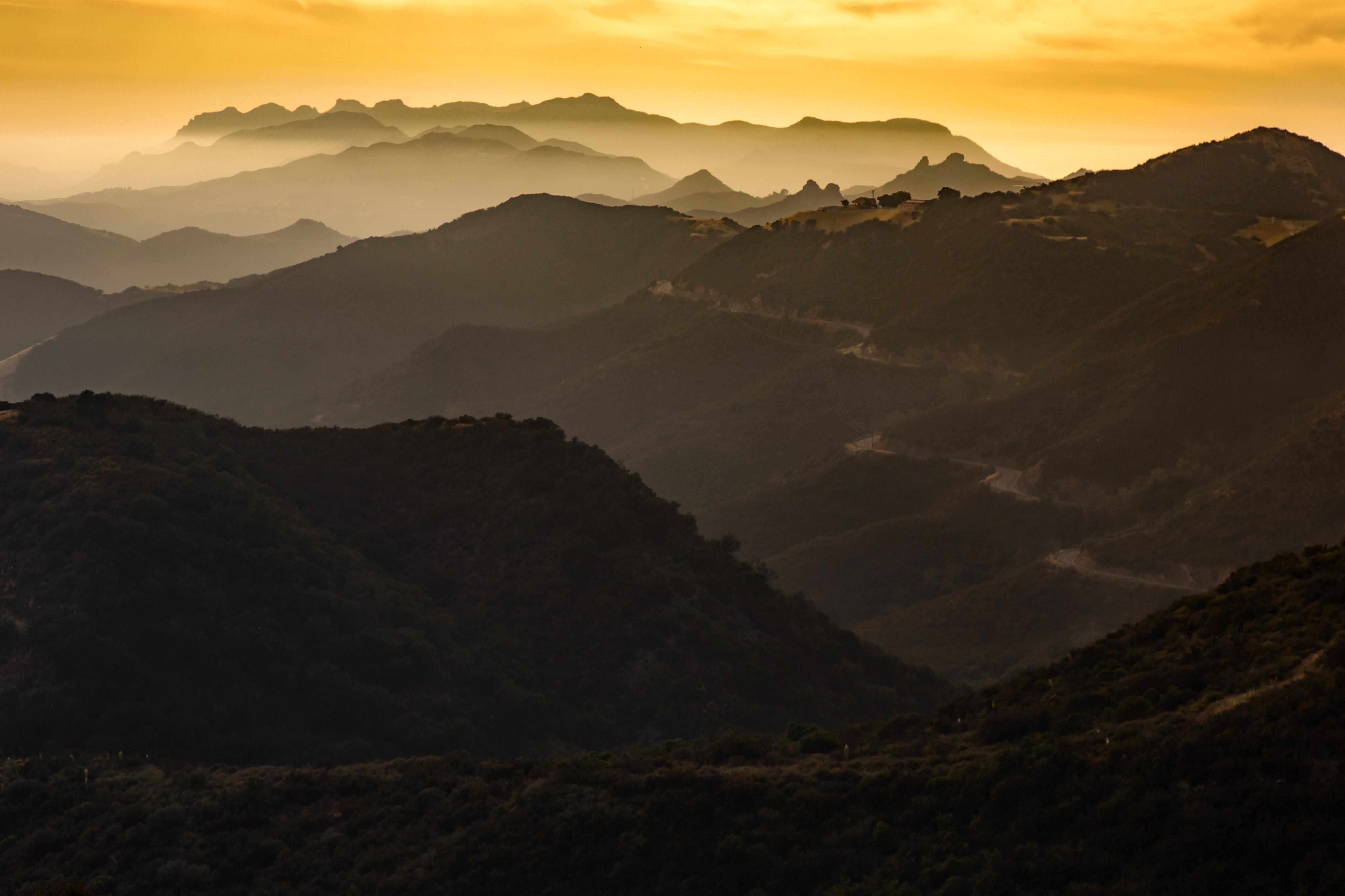 Sunset over Latigo Canyon Road - Santa Monica Mountains CA [5472 x 3648] [OC] via Classy Bro