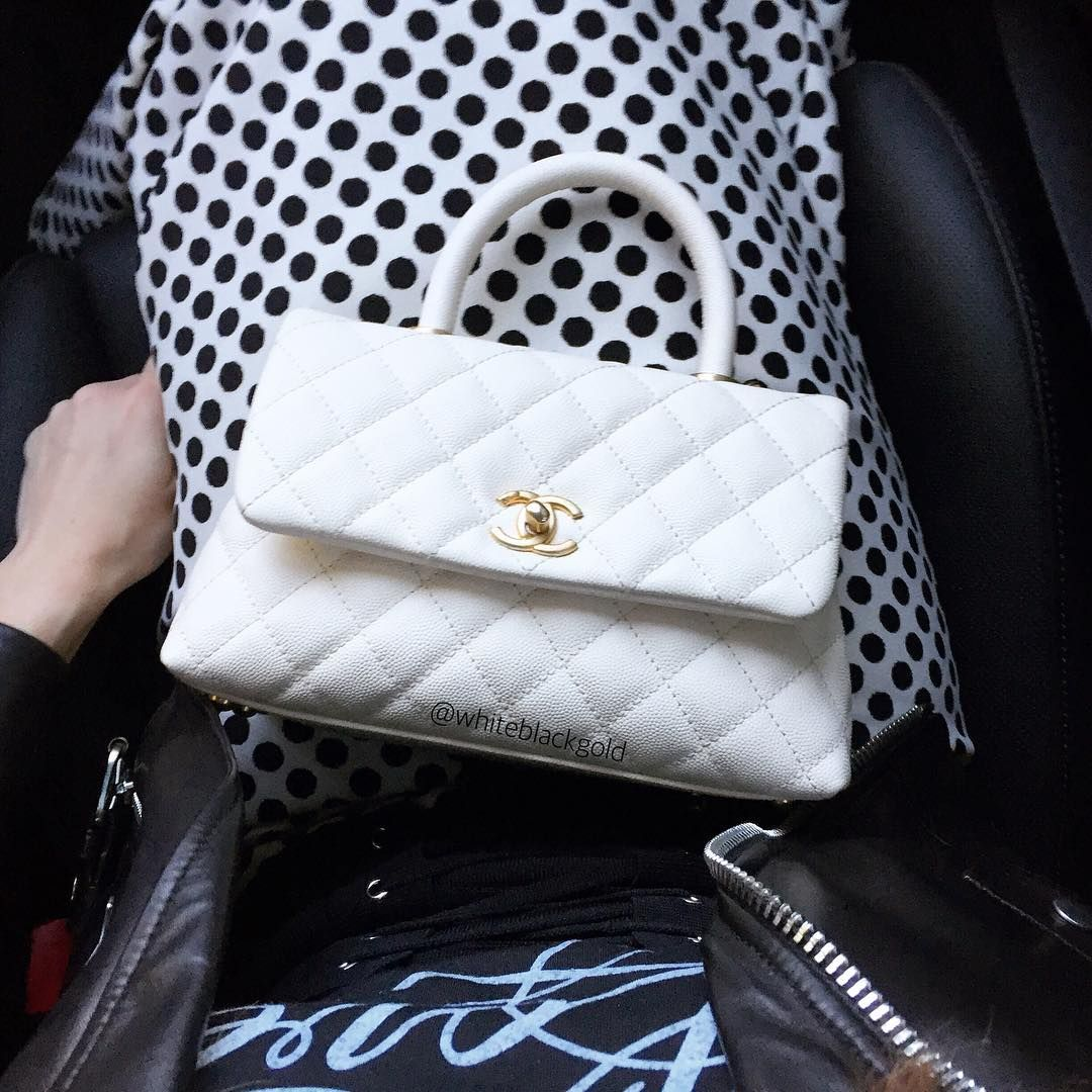 2f8e9ec7acb2 Chanel Coco Handle Mini Ivory GHW Wishlist #1 | shoe_bag in 2019 ...