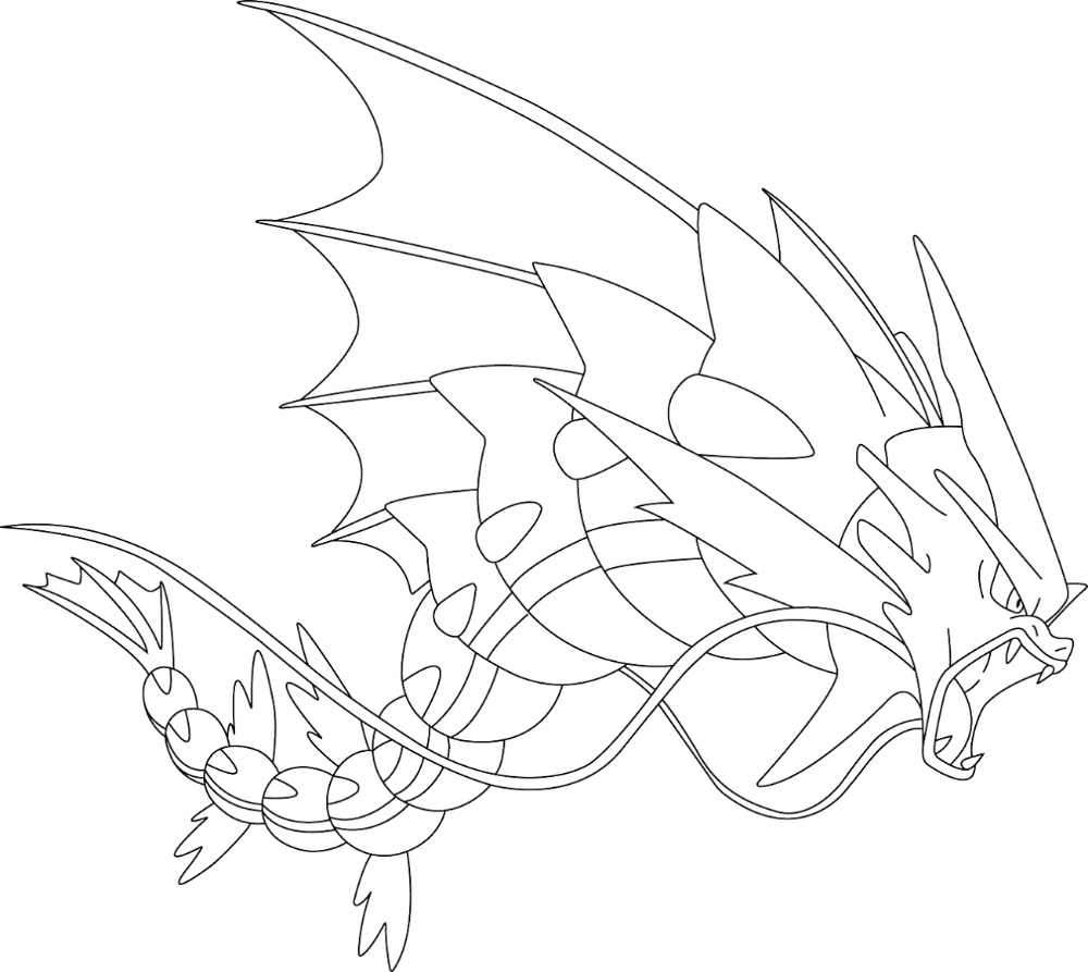 Mega Pokemon Coloring Pages Gyarados Pokemon Coloring Pages Pokemon Coloring Coloring Pages