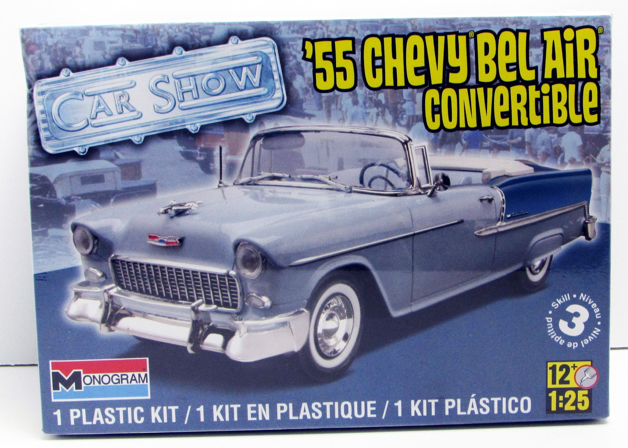 1955 Chevy Bel Air Convertible Revell Model Kit Monogram 1 25