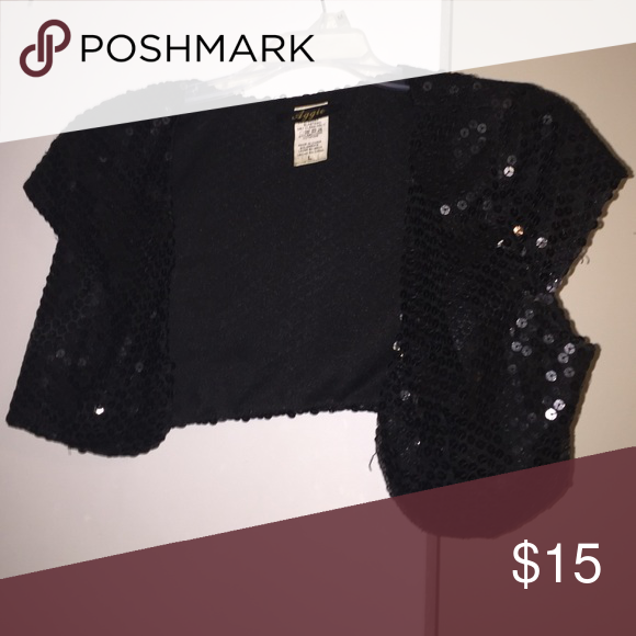 Sequin vest- LAST Chance! Black sequin best perfect for a night out! Jackets & Coats Vests