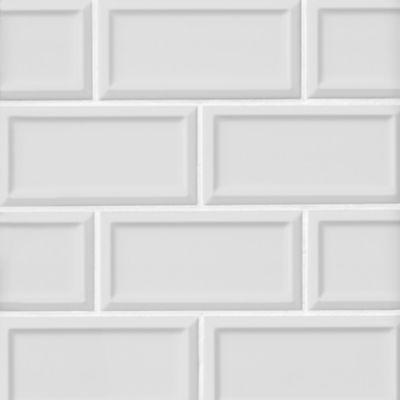 Imperial Bianco Frame Matte Ceramic Subway Wall Tile 3 X 6 In In 2020 Wall Tiles Wall The Tile Shop