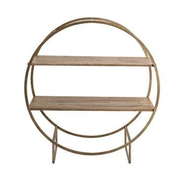 Sofia Metal Circle Shelf - Gold - Creative Co-Op | Milan Direct