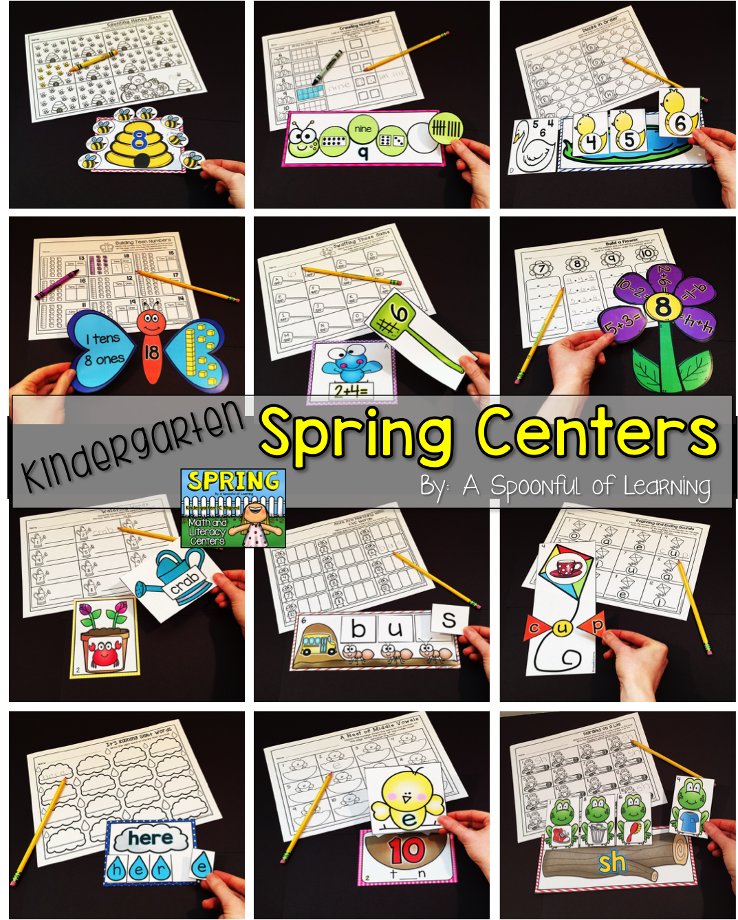 Spring Literacy And Math Centers Bundled Aligned To The