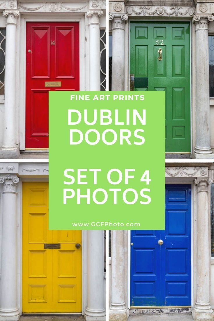 Dublin door art set of photos dublin decor for living room art