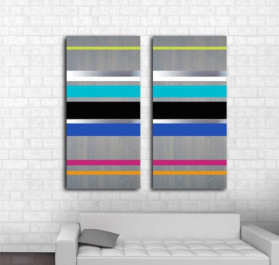 Modern Wood Metal Wall Art Handcrafted In South Fl Contemporary Abstract Minimalist Mid Century