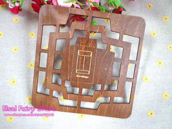 Retro Zakka Style Multi Size Wood Envelope Template, Envelope Maker, Manual  Manual Stencil Mould