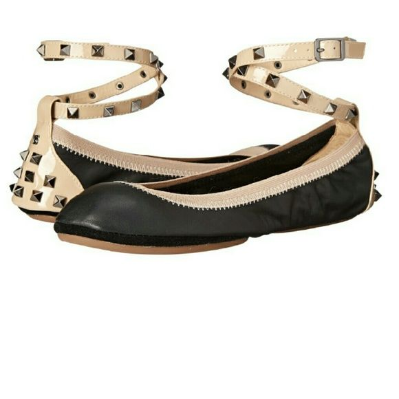 b7aa0a13aab302 1 HOUR!! Yosi Samra leather ballet flats 11