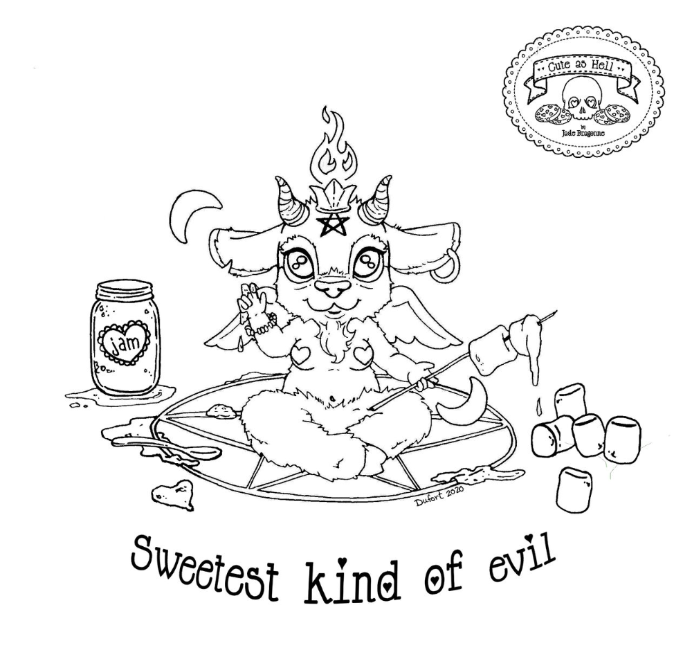 Pin By Carole Williams Graham On Jade Animal Doodles Baphomet Coloring Books