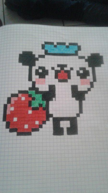 Panda Cuisto Dessin Petit Carreau Dessin Carreau Et