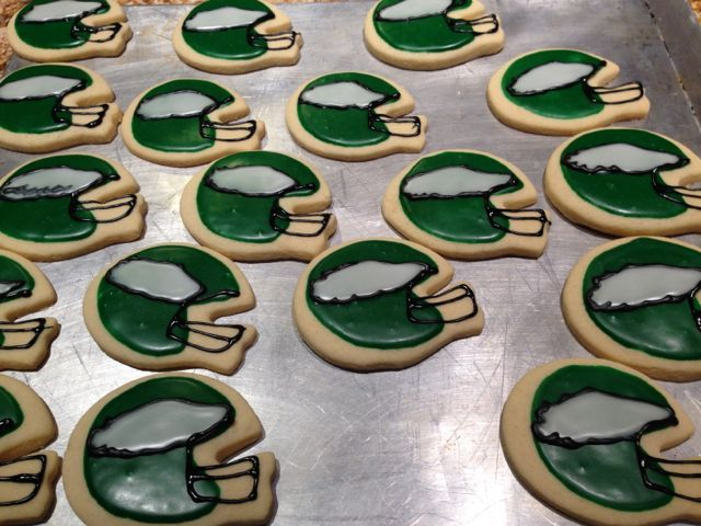 Philadelphia Eagle cookies My sons Eagle birthday party theme
