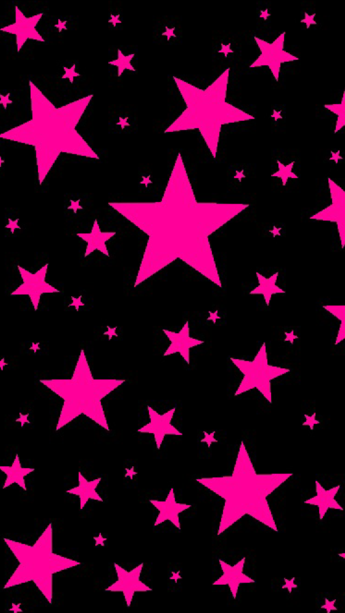 Bold Hot Pink Stars On Black Photo Only No Link Neon Wallpaper Star Wallpaper Wallpaper