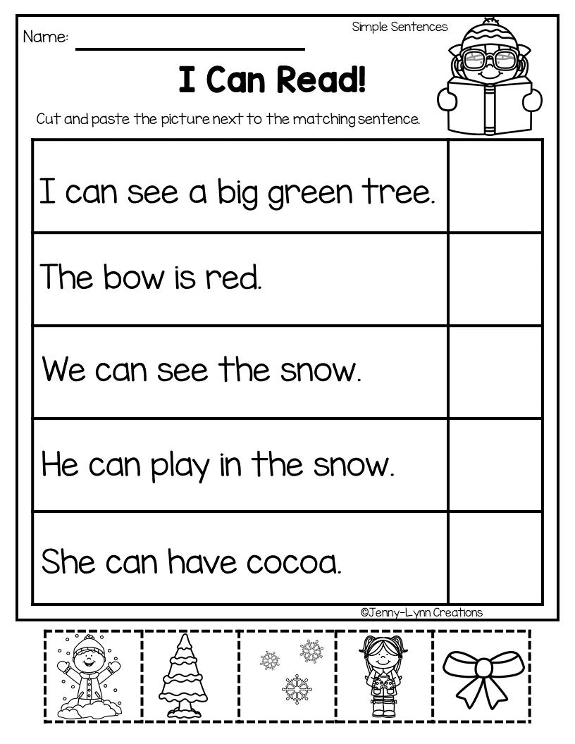 December Math Literacy December Math Kindergarten Reading Worksheets Preschool Prewriting [ 1056 x 816 Pixel ]