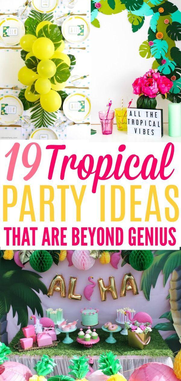 19 Tropical Party Ideas That Are Beyond Genius - XO, Katie Rosario