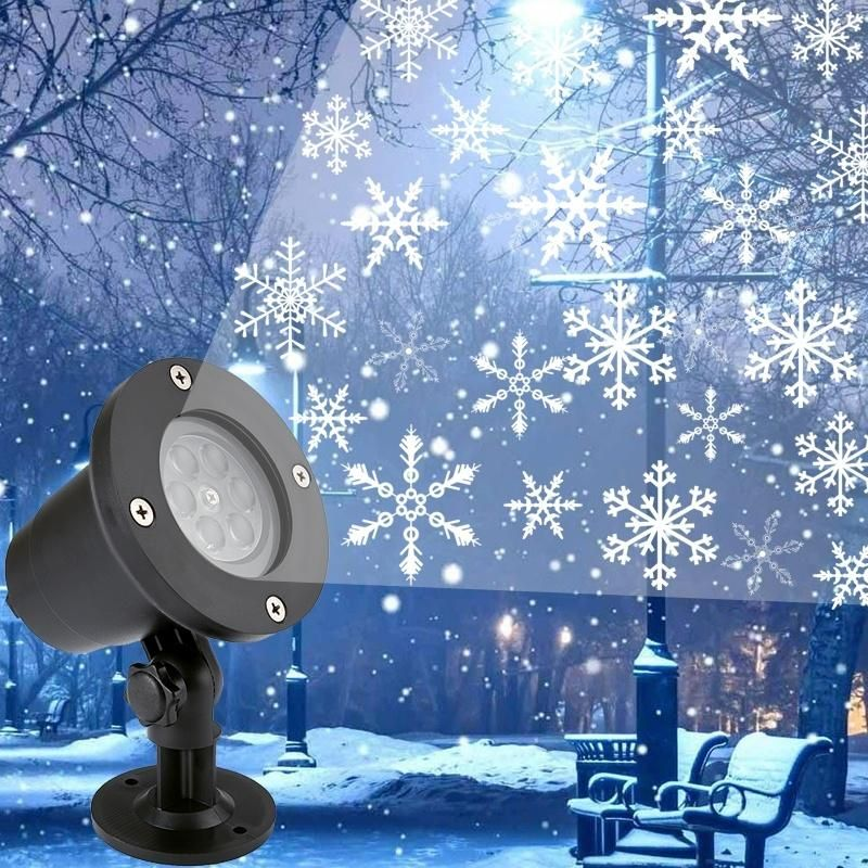2018 Christmas Decoration Led Snowflake Projector Light White And