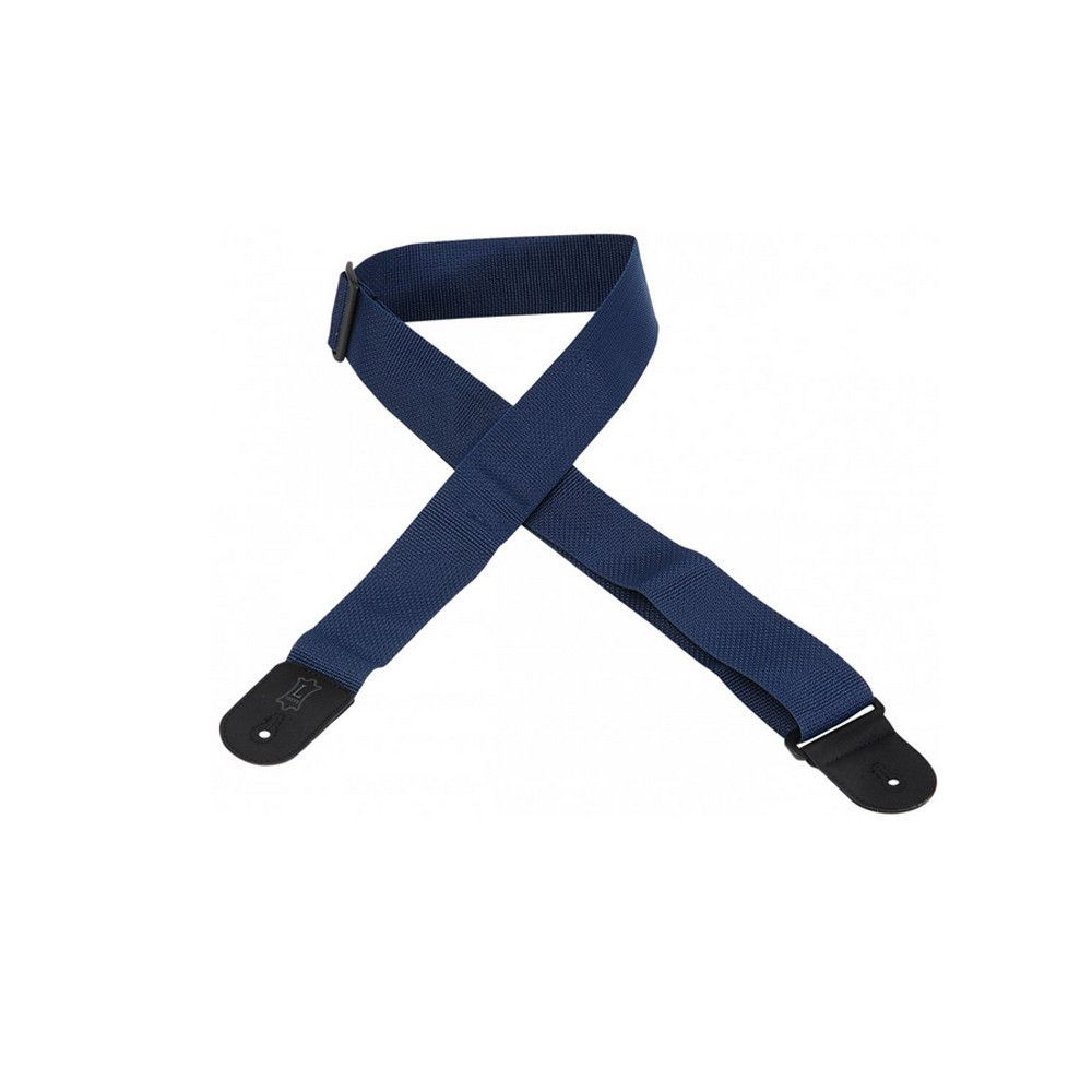 """Levy's 2"""" Basic Poly Guitar Strap with Tri-Glide Adjustment - Navy"""